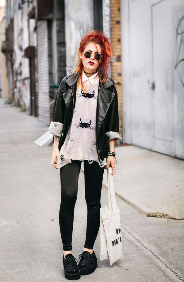 le happy blogger jacket sunglasses