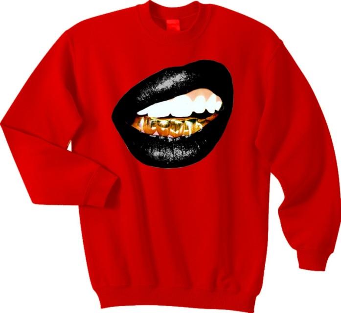 Trill grill (black lips) sweatshirt *choose t