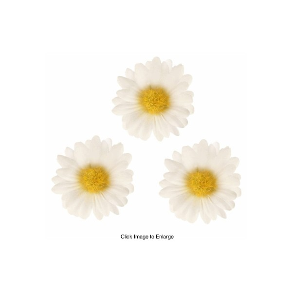 Three White Daisy Flower Hair Clips for $4.50