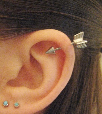 jewels earrings arrow tumblr gold helix piercing