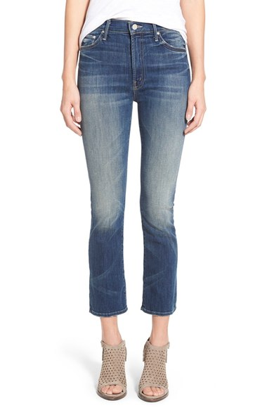 MOTHER 'The Insider' High Rise Crop Bootcut Jeans (Double Trouble) | Nordstrom