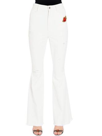 jeans distressed denim jeans denim heart white