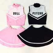 dress,pastel goth,cute,cheerleading,cheerleading top