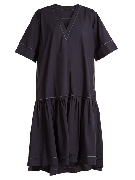 Lee Mathews dress cotton navy