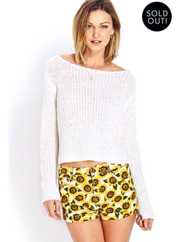 New Forever 21 High Waisted Sunflower Shorts American Apparel Urban Outfitters | eBay