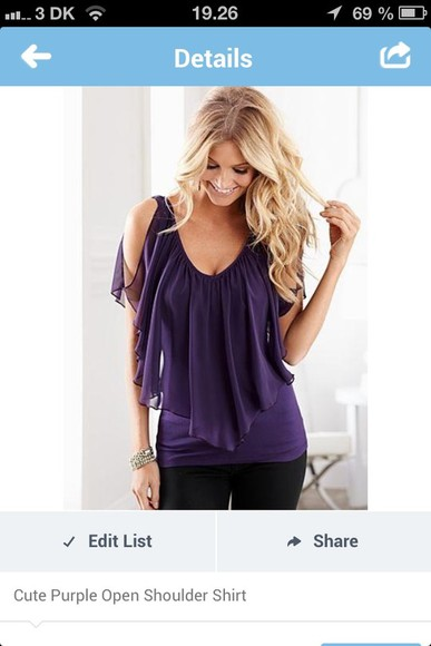 dress cute beautiful blouse adorable purple