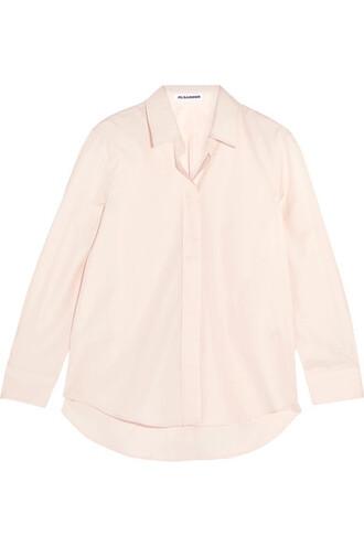 shirt pastel cotton pink pastel pink top