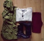 jacket,sweater,pants,green,olive green,green jacket,olive green jacket