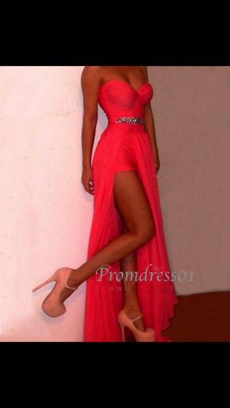dress bustier dress hot pink dress prom dress long prom dress