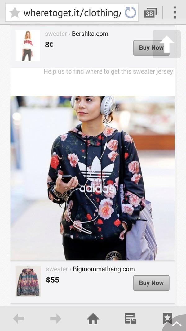 jacket adidas floral sweatshirt hoodie