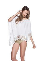 dress,white,cotton,white cover up,lace details,one size,ondademar