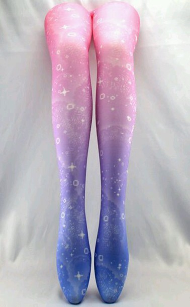 leggings tights pink purple