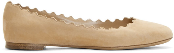 flats suede beige shoes