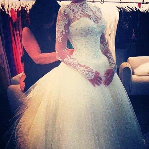 dress princess wedding dresses wedding clothes girly lace dress lace up white dress rhinestones wedding dress wedding