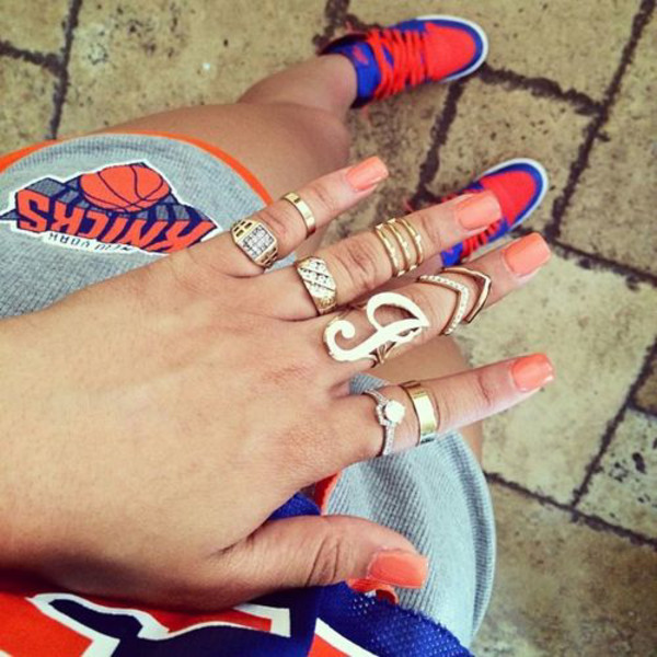 jeans knicks jordans jewels ring