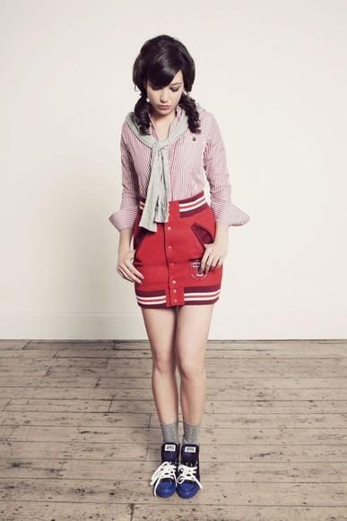 baseball jacket skirt mini skirt