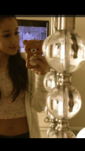 jewels,iphone 5 case,iphone cover,iphone case,teddy bear,ariana grande,cute,tank top
