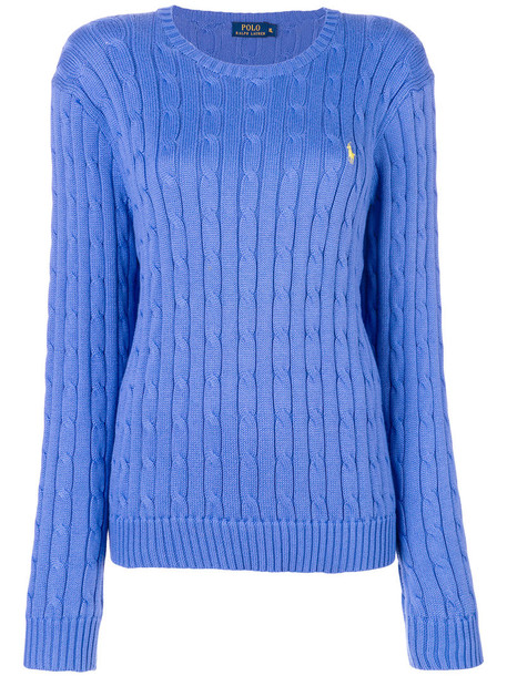 Polo Ralph Lauren jumper women cotton blue knit sweater
