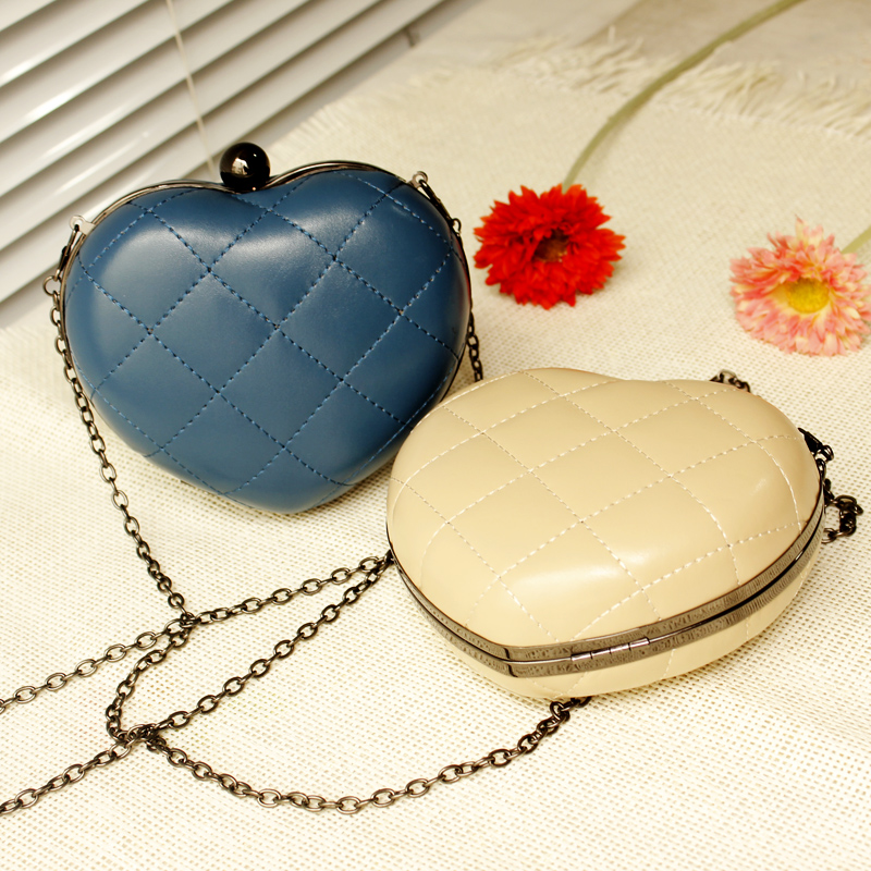 2013 mini leather heart shaped punk party queen chain bag day clutch vintage shoulder evening small bags free drop shipping-inEvening Bags from Luggage & Bags on Aliexpress.com