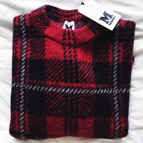 sweater style flannel shirt