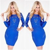 dress,bodycon,fall outfits,mini,royal blue,hot,royal blue dress,couture