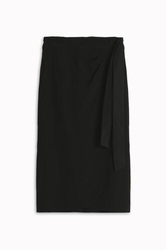 skirt women silk black