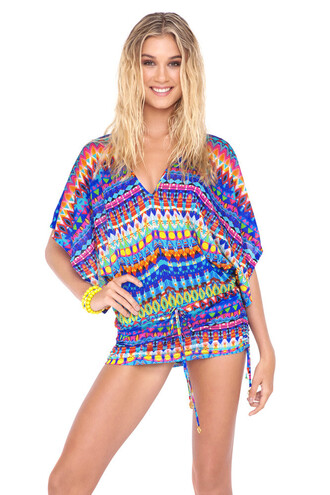 dress luli fama luxury patterned swimwear cover up beach dress bikiniluxe