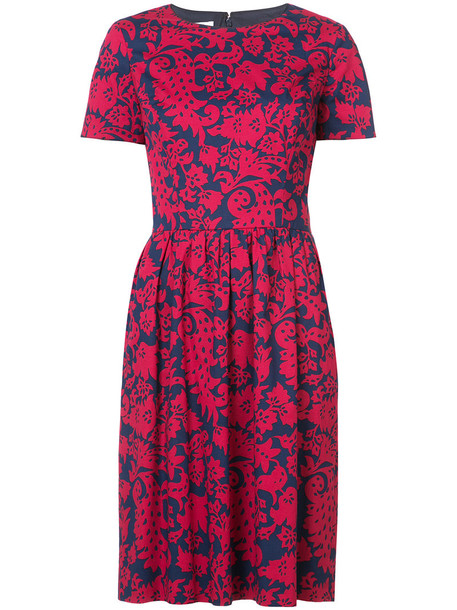 oscar de la renta dress midi dress women midi spandex cotton red