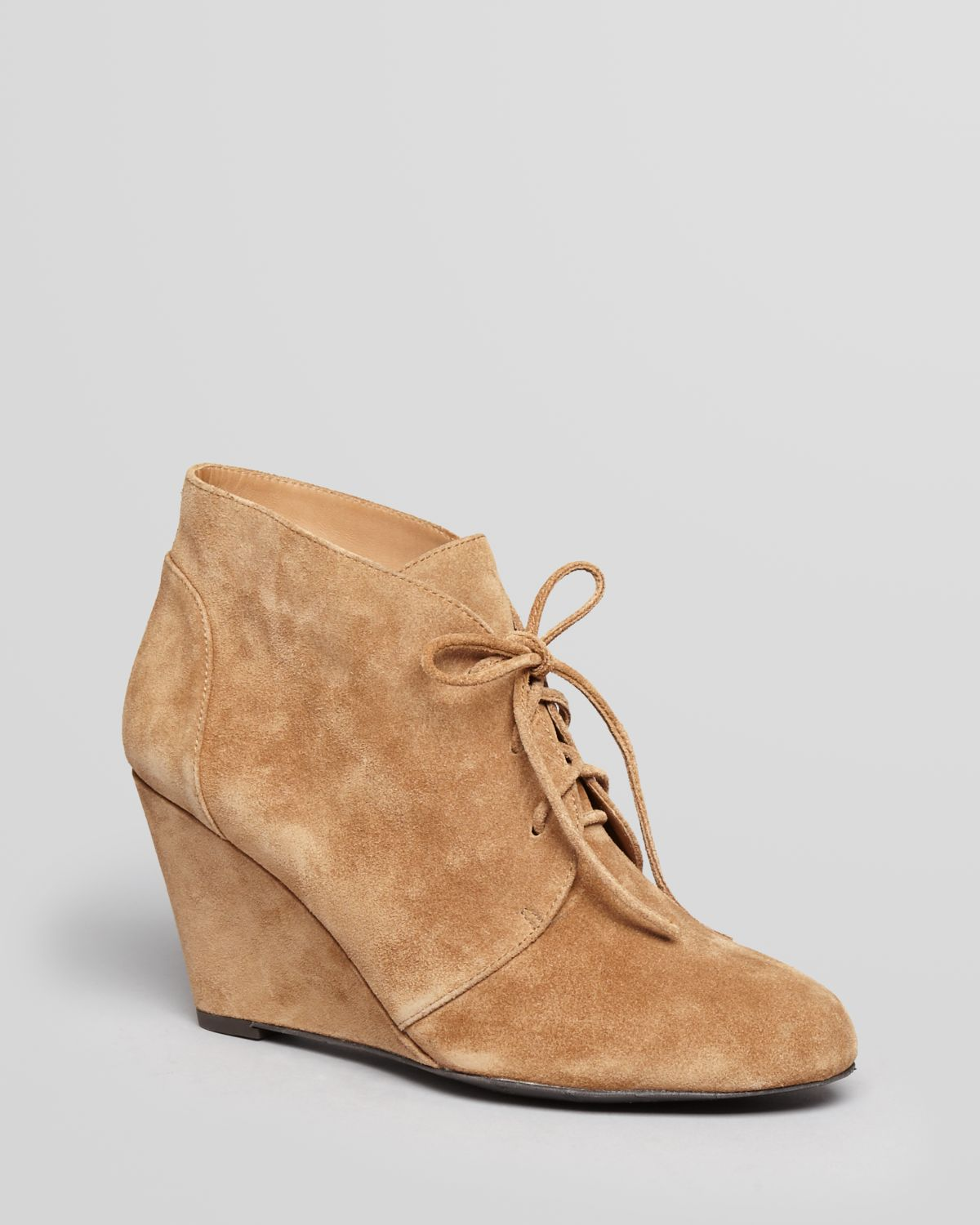 Via Spiga Lace Up Wedge Booties - Fedora | Bloomingdale's