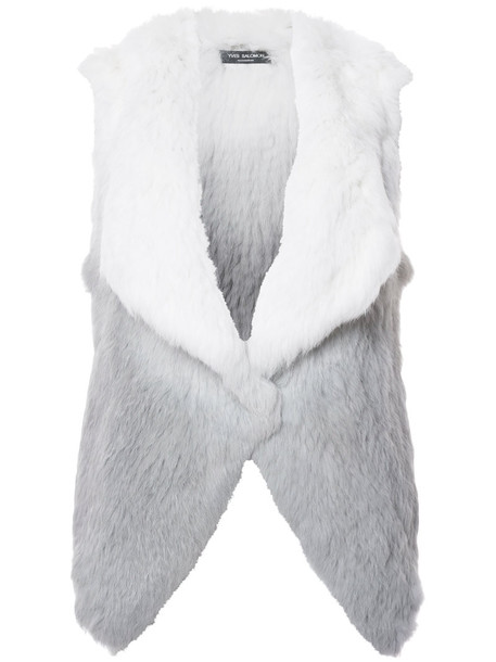 vest fur vest fur women grey jacket