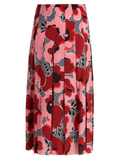 skirt,pleated,print,silk,pink