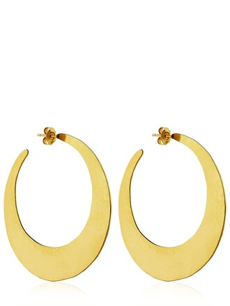 earrings hoop earrings gold jewels