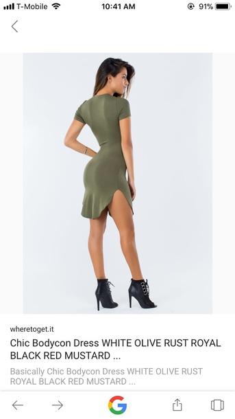 dress olive boba con dress short sleeve