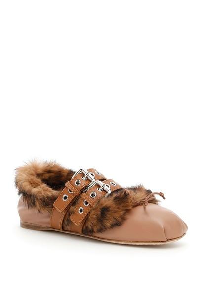 Miu Miu fur shoes
