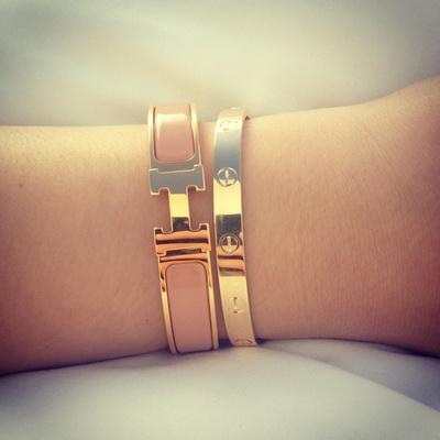 Rose gold love bracelet w/ rhinestones · mir · online store powered by storenvy