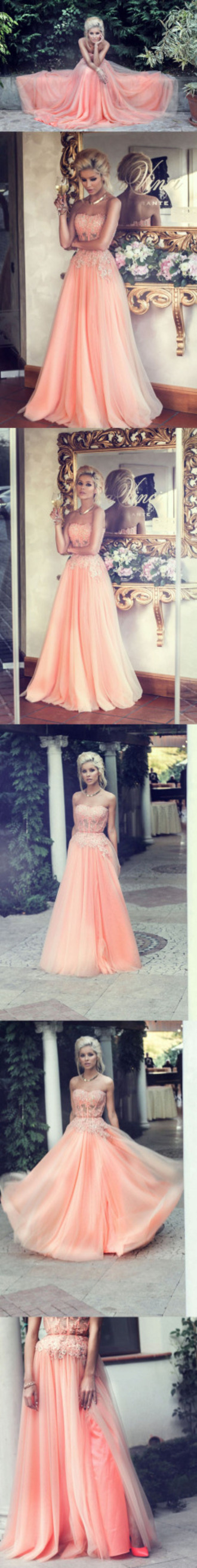 dress coral prom grad bling sparkle pink coral dress