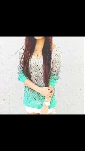 ombre beautiful knit top
