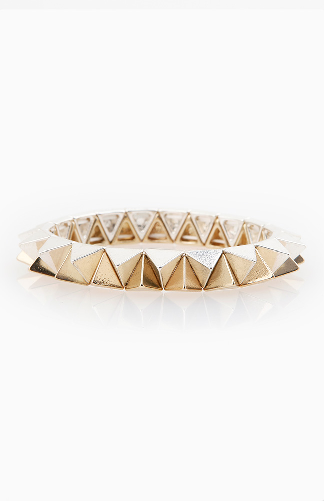 Opposing Spike Stretch Bracelet | DAILYLOOK
