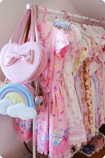 bag dope pastel rainbow kawaii dressing lolita kawaii bag dress