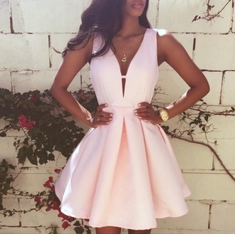 dress light pink summer dress