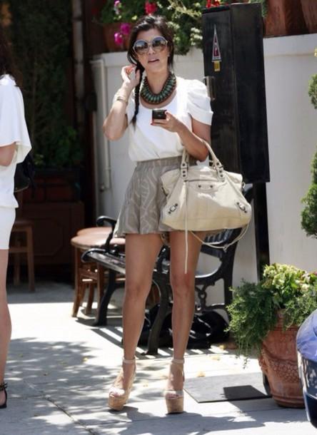 kourtney kardashian blouse skirt top shorts