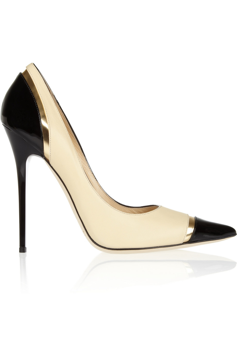 Limit tri-tone leather pumps | Jimmy Choo | 30% off | THE OUTNET
