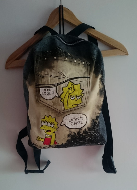 Lisa Simpson bleached backpack
