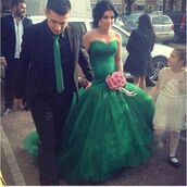dress,colored wedding dress,green,lace wedding dress,lace mermaid wedding dress,Arabic wedding dress,bridal gown,cheap bridal gown,cheap wedding dress