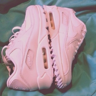 shoes sneakers pink sneakers nike nike air max 90 air max low top sneakers nike sneakers nike shoes pastel pink pink nike trainers