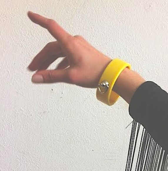 jewels bracelets yellow yellow bracelet bondage ring d ring bondage