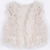 Apricot V-neck Faux Fur Crop Gilet - Sheinside.com