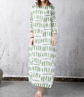 dress,loose print gown