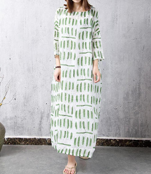 dress loose print gown