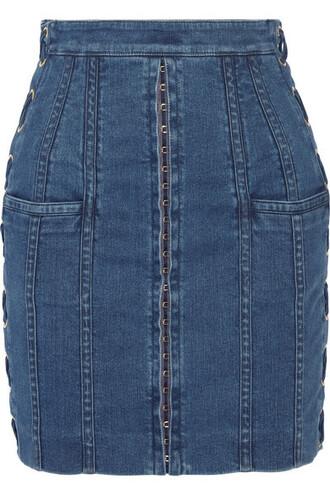 skirt mini skirt denim mini lace